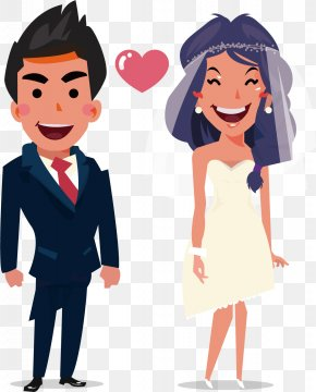 Married Bride And Groom - Marriage Drawing Clip Art PNG