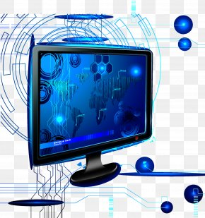 Blue Computer Technology - Television Set Computer Monitor PNG