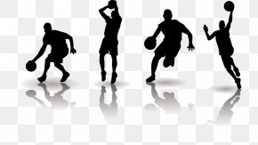 Basketball Players Silhouette Image - Basketball Football Clip Art PNG