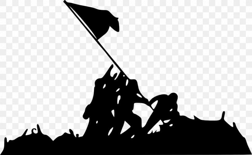 Marine Corps War Memorial Raising The Flag On Iwo Jima Battle Of Iwo Jima Silhouette, PNG, 898x552px, Marine Corps War Memorial, Battle Of Iwo Jima, Black, Black And White, Brand Download Free