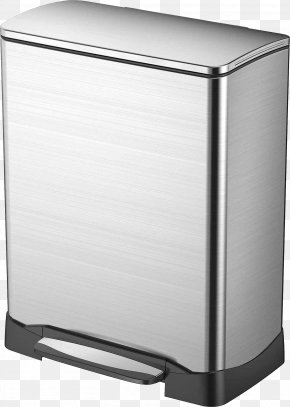 Trash Can - Waste Container Stainless Steel Rectangular Step Can Recycling PNG
