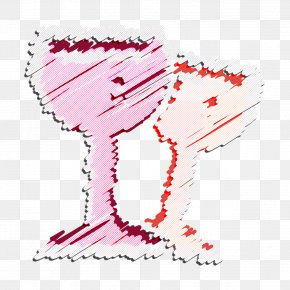 Pink Wine Icon - Alcohol Icon Beverage Icon Bottle Icon PNG