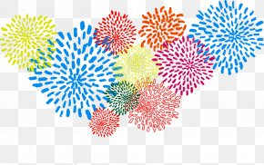 Fireworks - Abstraction Vecteur Watercolor Painting PNG