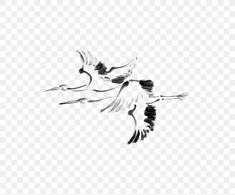 Japanese Painting Ink Wash Painting Drawing, PNG, 966x805px, Japan, Art, Bird, Black, Black And White Download Free