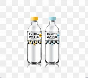 Water Bottle Design - Bottled Water Packaging And Labeling PNG