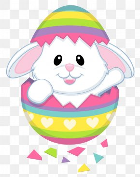 Cute Easter Bunny Transparent Clipart - Easter Bunny Clip Art PNG