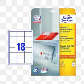 Etikett - Paper Label Avery Dennison Office Supplies Avery Zweckform PNG