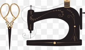 Sewing Scissors - Sewing Machine Textile Sewing Needle PNG