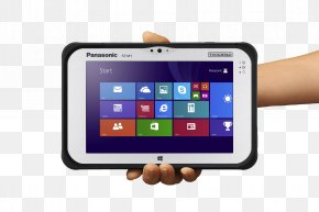 Tablet In Hand Image - Panasonic Toughpad Rugged Computer Intel Core I5 Toughbook PNG