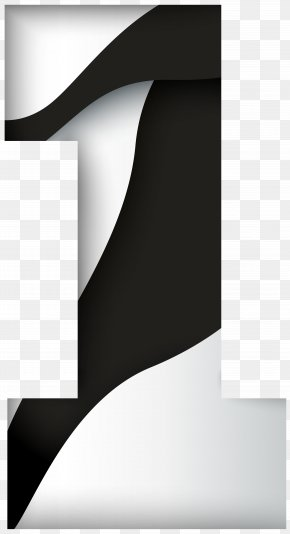 Number One Black White Clip Art Image - Black And White Brand Pattern PNG
