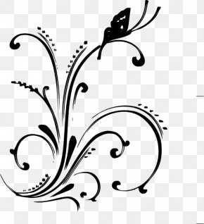 Fancy Scroll Cliparts - Coral Flower Clip Art PNG