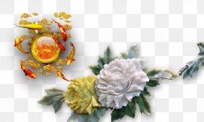 Jade Peony - Floral Design 3D Computer Graphics Moutan Peony PNG