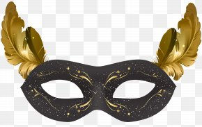 Black Carnival Mask Clip Art - Carnival Of Venice Mask PNG