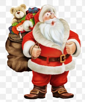 Santa Claus Loaded With Gifts - Pxe8re Noxebl Mrs. Claus Santa Claus NORAD Tracks Santa Christmas PNG