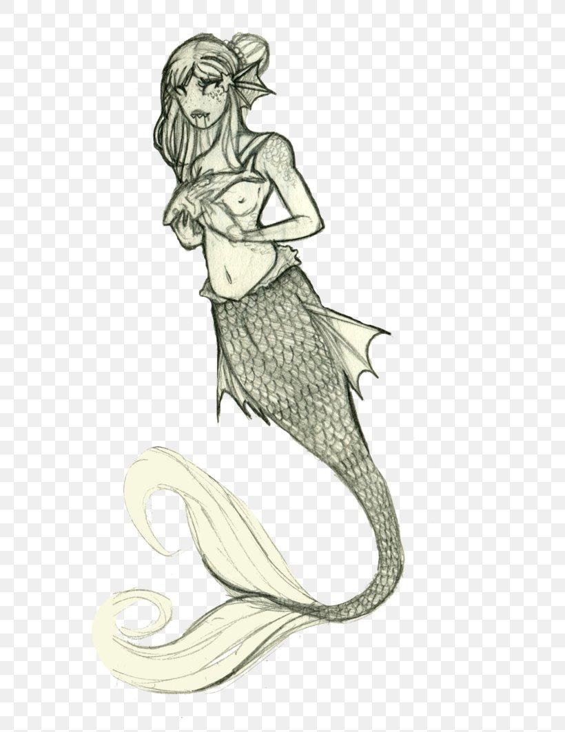 Sketch Illustration Mermaid Figure Drawing Png 751x1063px Mermaid Arm Art Artwork Costume Design Download Free