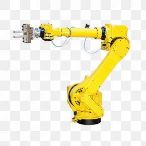 Yellow Arm - Robotic Arm Industrial Robot Manufacturing Robot Welding PNG