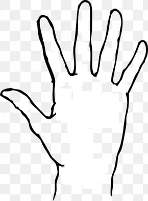Handprint Outline - Praying Hands Free Content Clip Art PNG