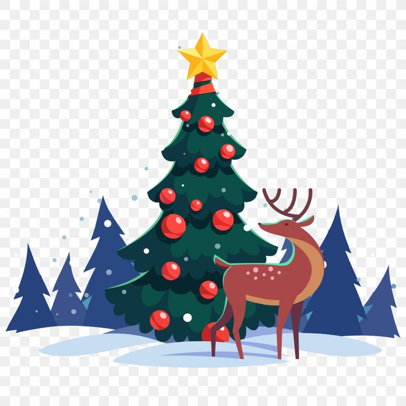 Christmas Day Santa Claus Christmas Tree Image Christmas Lights, PNG, 2000x2000px, Christmas Day, Art, Christmas, Christmas Decoration, Christmas Eve Download Free