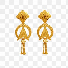 Jewelry - Earring Jewellery Gold Jewelry Design Tanishq PNG