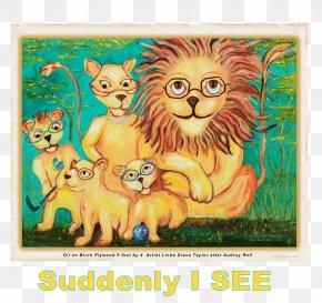 Lion - Lion Tiger Cartoon Cat PNG