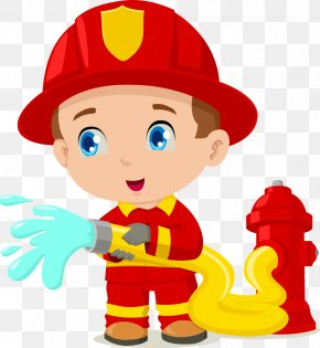 Cartoon Fireman - Firefighter Cartoon Clip Art PNG