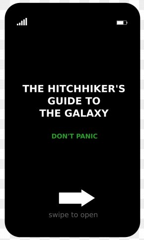 Hitchhikers Guide To The Galaxy - The Hitchhiker's Guide To The Galaxy Brand Clip Art PNG