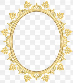 Oval Frame Cliparts - Borders And Frames Picture Frames Oval Clip Art PNG