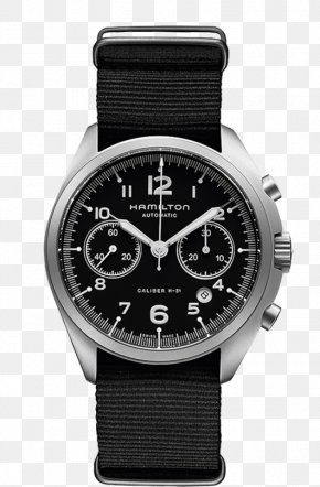 Hamilton Watch Watches Black Men's Watch - Hamilton Watch Company Chronograph 0506147919 Omega Chrono-Quartz PNG