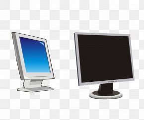 Blue Black Computer Monitor - Computer Monitor Laptop Computer Case Computer Mouse PNG