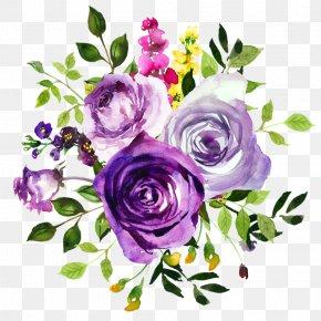 Watercolor Rose - Flower Purple Watercolor Painting Violet Clip Art PNG