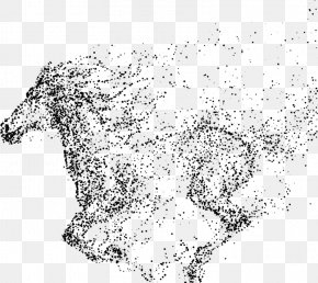 Particles Mustang - Mustang Wild Horse Painting PNG