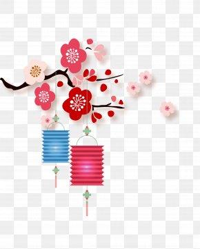 Chinese New Year Festive Lanterns - China Chinese New Year Lantern Papercutting PNG