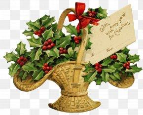 Thanks Giving - Christmas Tree Santa Claus Clip Art PNG