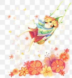 Flower Fairy - Flower Floral Design Illustration PNG