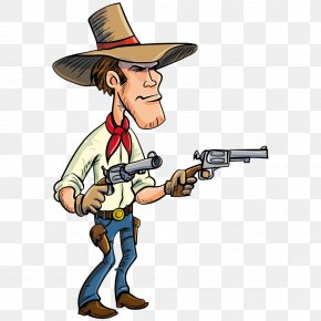 Cartoon Knight Gun - Cartoon Firearm Cowboy American Frontier PNG