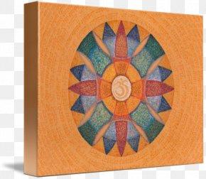 Mandala Om - Gallery Wrap Canvas Symmetry Art Pattern PNG