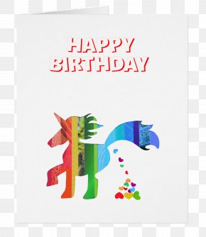 Birthday Card - Greeting & Note Cards Gift Friendship Unicorn Supporter PNG