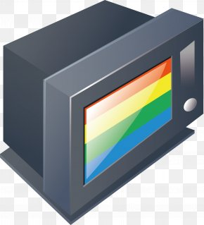 Old Color TV - Display Device Color Television PNG