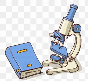 Microscope And Books Vector - Microscope Chemistry PNG