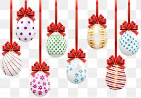 Easter Hanging Eggs Transparent Clip Art Image - Easter Egg Clip Art PNG