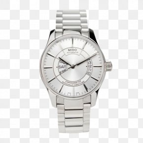 Mido Bruner Series Watches - Silver Watch Strap Watch Strap PNG