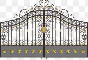 Wrought Iron Gates - Electric Gates Wrought Iron Door Fence PNG