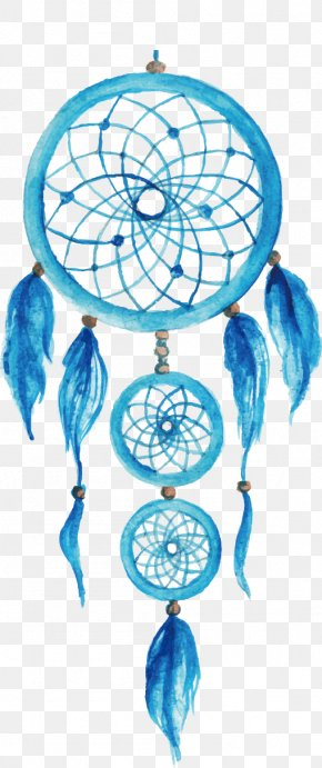 Vector Hand-painted Watercolor Illustration Dreamcatcher - Dreamcatcher Illustration PNG