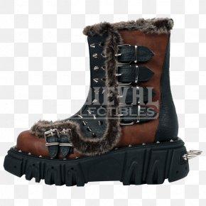 Platform Shoes - Snow Boot Shoe Fur PNG
