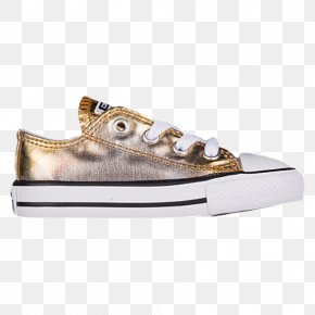 Gold Metallic Converse Tennis Shoes For Women - Sports Shoes Chuck Taylor All-Stars Converse Clothing PNG