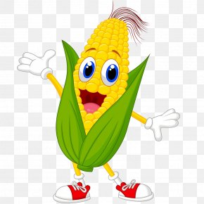 Corn - Corn On The Cob Cartoon Maize Drawing PNG