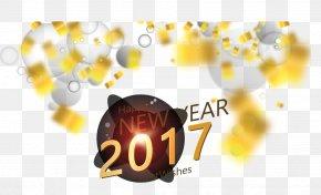 Golden Light Effect Background New Year Card - Light New Years Day New Year Card PNG