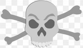 Skull And Crossbones Clip Art - Skull And Crossbones Clip Art Vector Graphics PNG