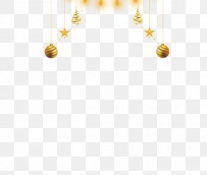 Christmas Golden Ball Decoration Material - Yellow Body Piercing Jewellery Human Body PNG