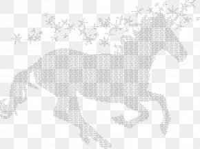 Typography - Mustang Pony Mane Pack Animal Unicorn PNG